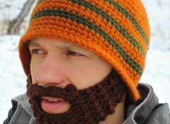 CUSTOM bearded beanie